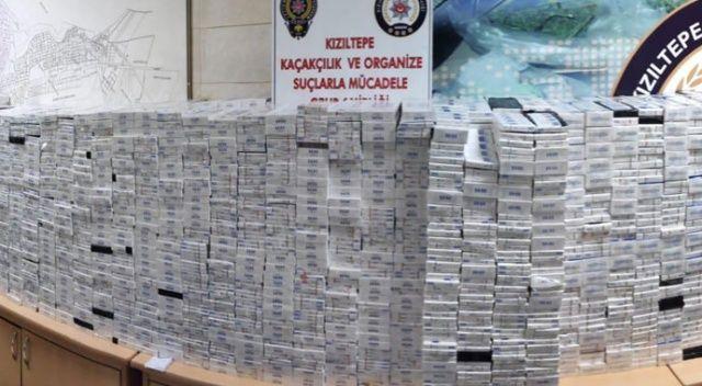 Mardin'de 26 bin 400 paket gümrük kaçağı sigara ele geçirildi