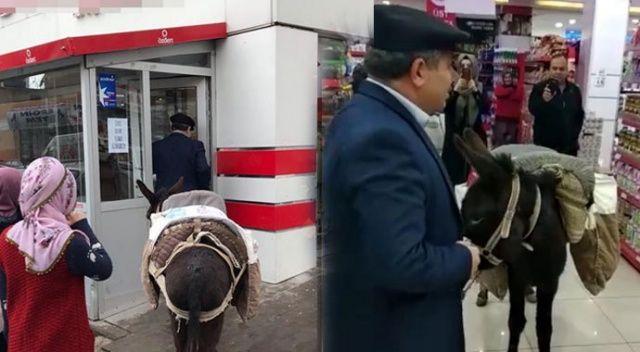 Marketteki eşekli protestoya 4 bin lira para cezası