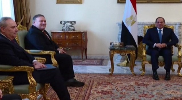 Pompeo, Mısır Cumhurbaşkanı Sisi ile görüştü
