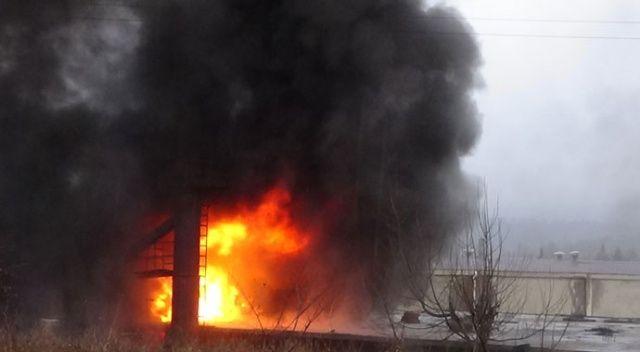 Simav'da fabrika yangını