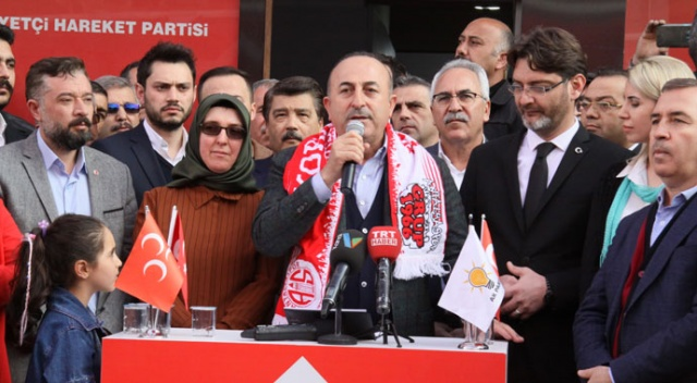 """Bakan Çavuşoğlu: """"Cumhur İttifakı'na ihanet edenler bunun bedelini öder"""""""
