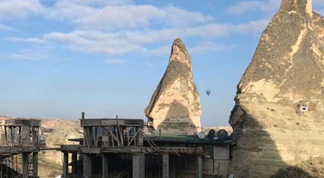 Bakanlıktan açıklama: 'Nevşehir Peribacaları yakınındaki inşaat durduruldu'