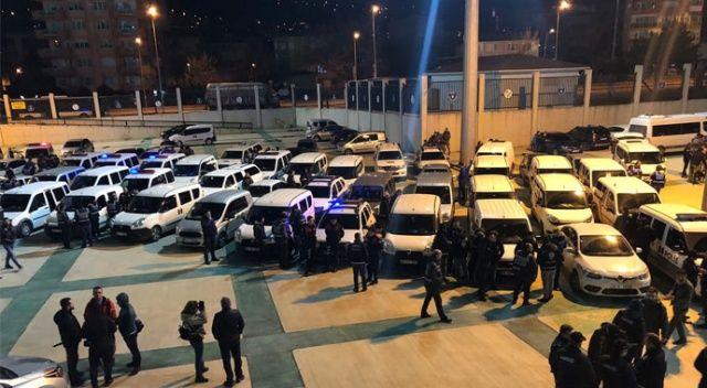 Bursa'da 4 bin polisle şafak operasyonu operasyonu