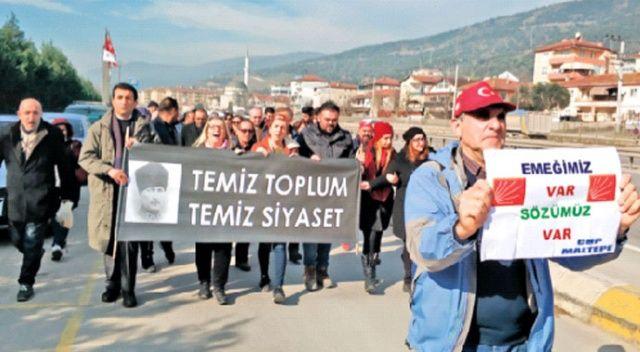 CHP'lilerin tepki yürüyüşü 4. gününde