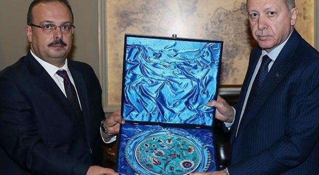 Cumhurbaşkanı Erdoğan, Bursa Valisi Canbolat'ı kabul etti