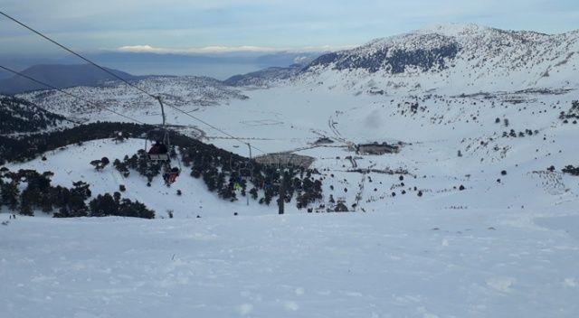 Davraz'da kar kalınlığı 3 metreye ulaştı