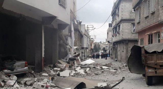 Gaziantep'te doğalgaz patlamasında evin duvarları yıkıldı