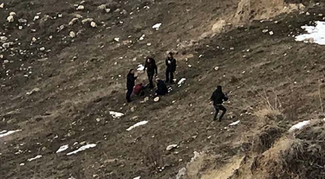 Genç kız 30 metre yükseklikten yuvarlanarak yaralandı