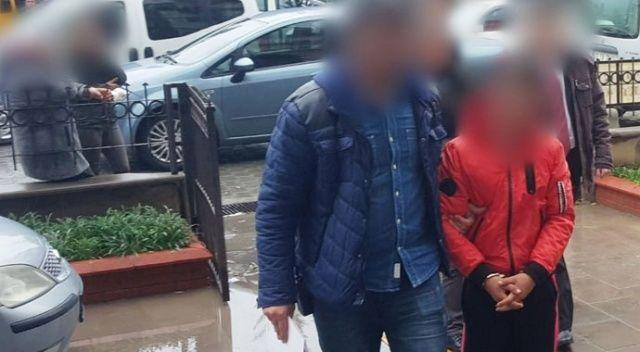 Havalandırmadan girdikleri evden hırsızlık yapan 3 zanlı tutuklandı