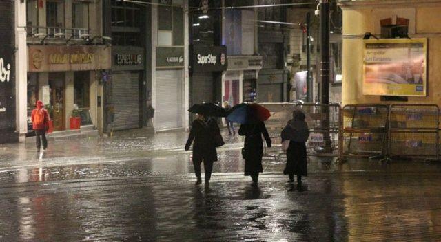 İstanbul'da yağmur etkisini gösteriyor