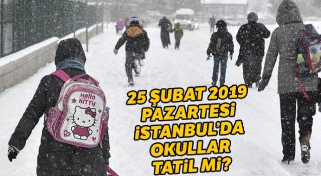 İstanbul'da yarın okullar tatil mi? 25 Şubat İstanbul Kar tatili mi? (Son dakika kar tatili haberleri)