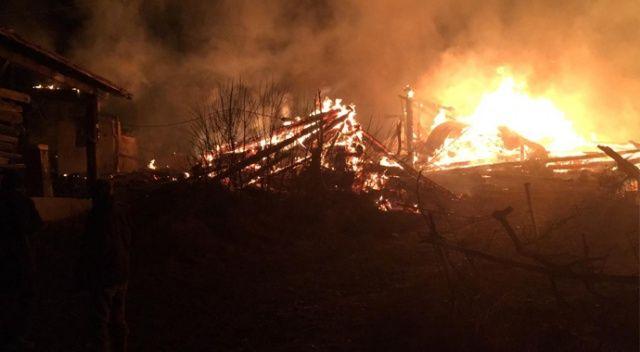 Kastamonu'da yangın: 2 ev ve 2 ahırı kül etti