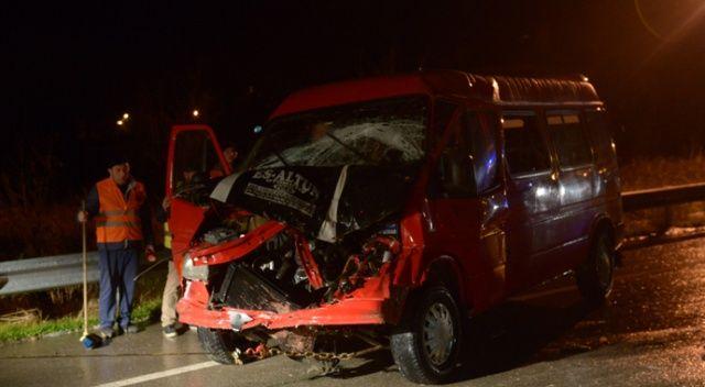 Sinop'ta iki minibüs çarpıştı: Yaralılar var