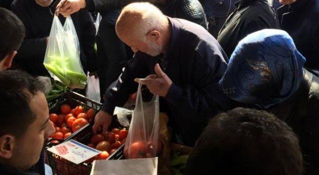 Tanzim noktalarında 224,7 ton sebze satıldı! Rekor domatesin oldu