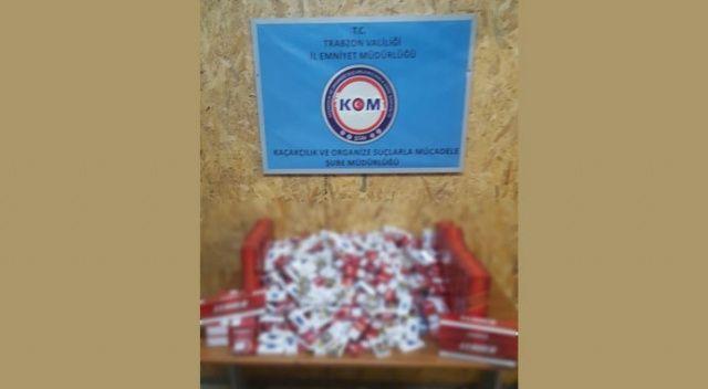 Trabzon'da uyuşturucu ve kaçak sigara operasyonu: 5 gözaltı