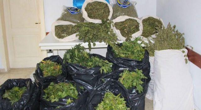 Uyuşturucu imalathanesine baskında 124 kilo shank ele geçirildi