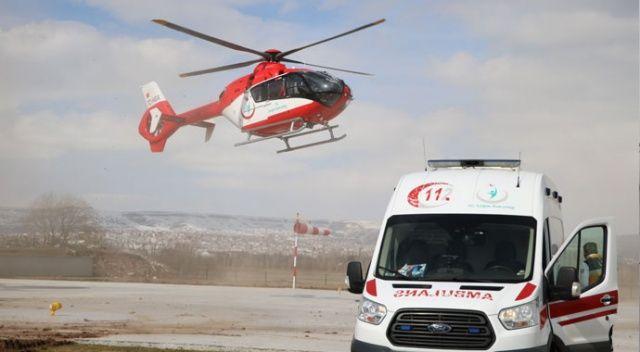 Yaralı çocuk helikopterle sevk edildi