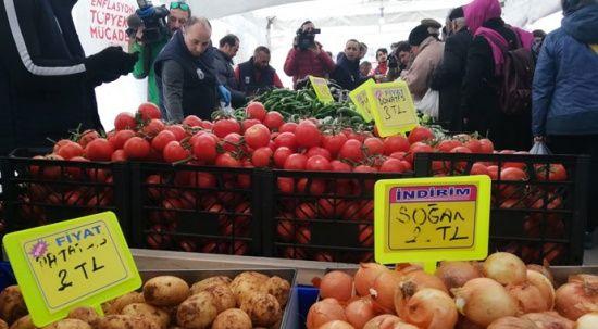 Ankara'da 15 tanzim satış noktasında sebze satışı başladı