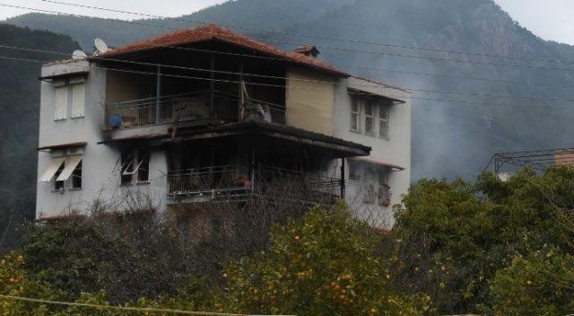 Alanya'da evde yangın paniği