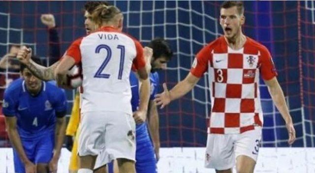 Azerbaycan, Hırvatistan'a 2-1 yenildi