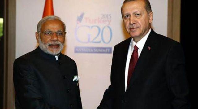 Cumhurbaşkanı Erdoğan, Hindistan Başbakanı ile telefonda görüştü