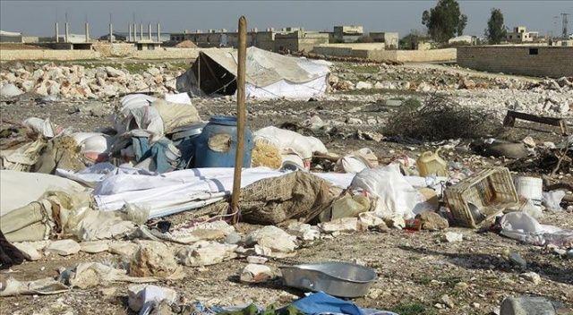 İdlib'deki sığınmacı kampına hava saldırısı