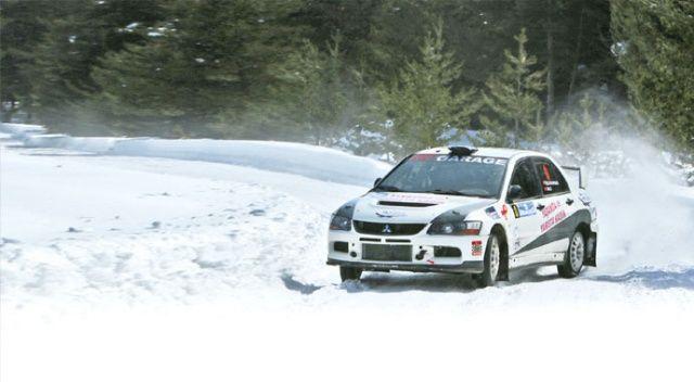 Kar rallisinde anlamlı hareket
