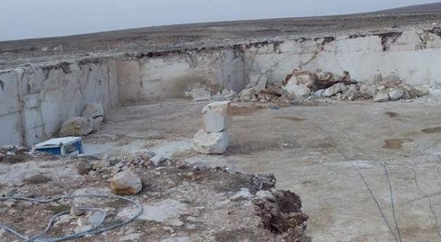 Mermer ocağında feci ölüm