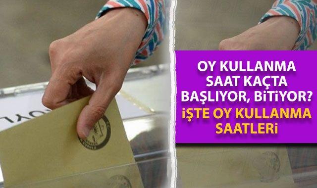 Oy kullanma saat kaçta başlıyor, bitiyor? 31 Mart seçimlerinde hangi il Saat Kaçta oy kullanacak?