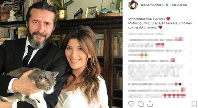 Oyuncu Şebnem Bozoklu ve Kanat Atkaya evlendi