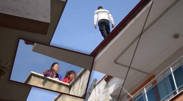 Şehri ayağa kaldıran cezaevi firarisi çatıda yakalandı ile ilgili görsel sonucu