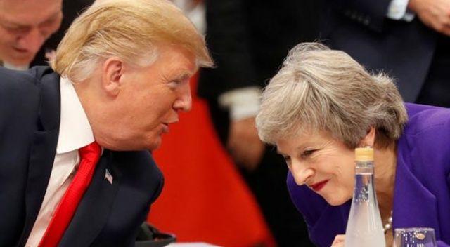 Trump'tan May'e şok gönderme!