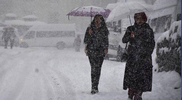 Üç il için yoğun kar yağışı uyarısı