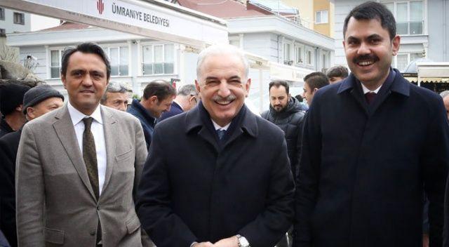 Ümraniye'de vatandaşlarla buluştu