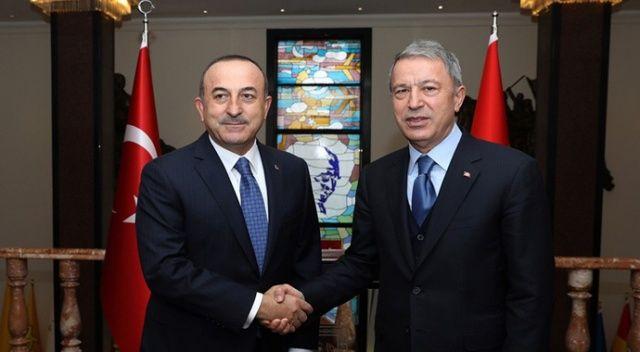 Akar ve Çavuşoğlu'ndan kritik toplantı