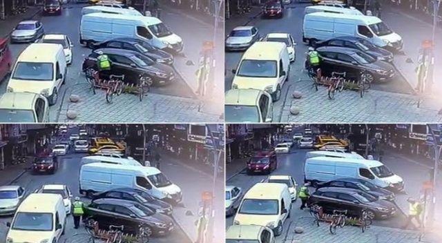 Aracının boydan boya çizildiğini görünce gözlerine inanamadı