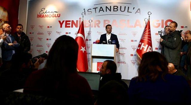 CHP İstanbul Büyükşehir Belediye Başkan Adayı İmamoğlu: İstanbul'a hizmete başlamak istiyoruz