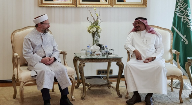 Diyanet İşleri Başkanı Erbaş, Suudi Arabistan Hac ve Umre Bakanı ile görüştü