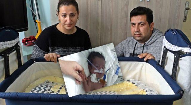 Hastalığı teşhis edilemeyen 5 aylık Eymen'in annesi ağlama sesine hasret
