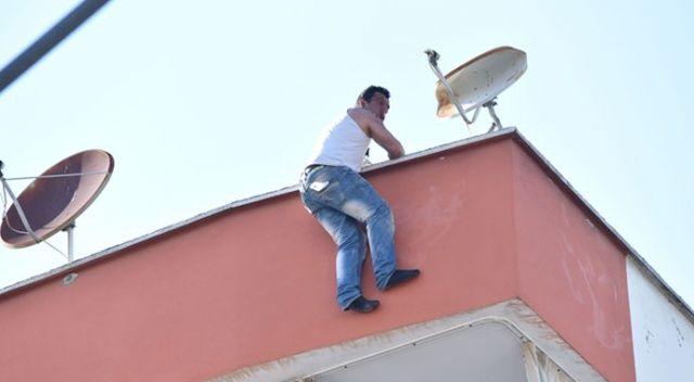 İntihar için çatıya çıktı, 'beni kameraya çekin' diye seslendi