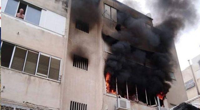 İsrail'de bina yangını: 16 yaralı