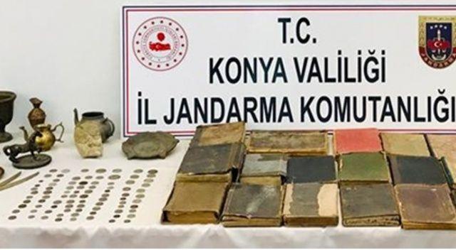 Jandarma operasyonuyla 142 parça tarihi eser ele geçirildi