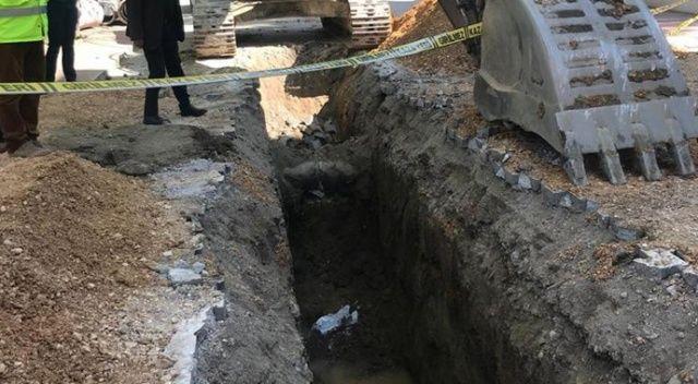 Kanalizasyon çalışmasında tarihi eser bulundu