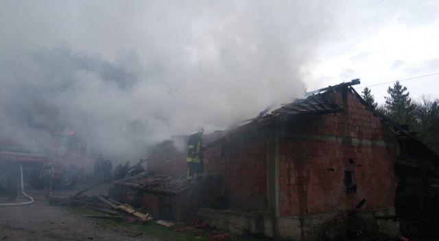 Kastamonu'da yıldırım düşmesi sonucu yangın çıktı