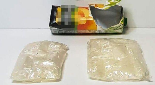 Meyve suyu kutusundan 333 gram kristal uyuşturucu madde çıktı