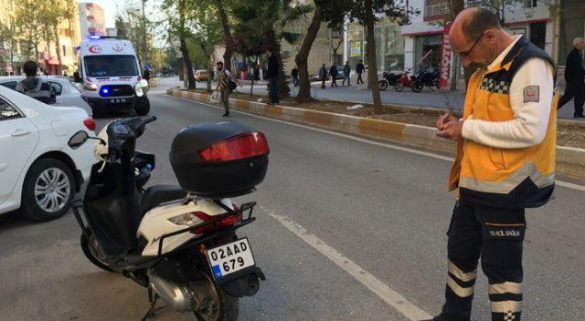 Motosiklet devrildi: 1 Yaralı