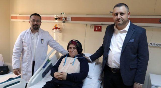 Nefes darlığı şikâyeti ile geldi, 24 santimlik tümörü çıkartıldı