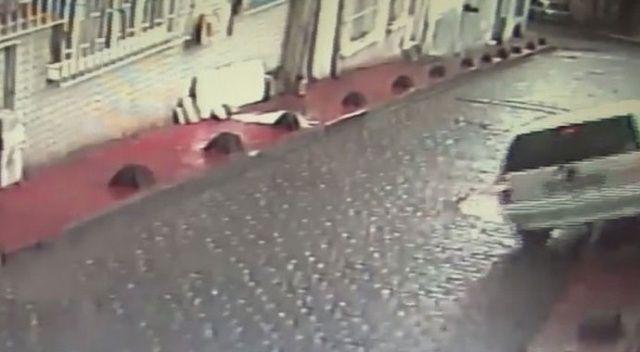 Otomobilin freni patladı, facianın eşiğinden dönüldü