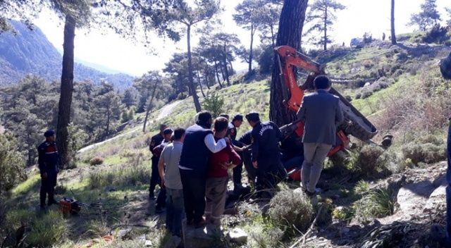 Sulama kanalında devrilen kepçenin operatörü hayatını kaybetti