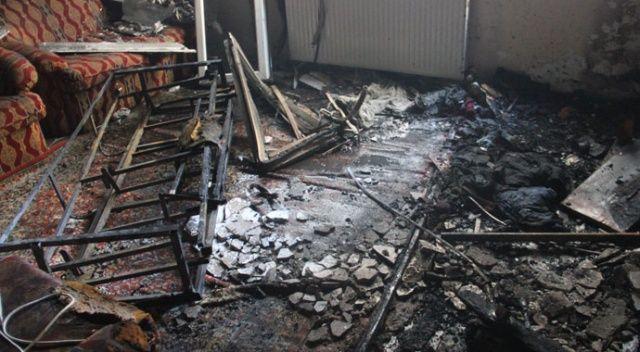 Suriyeli çocukların ateşle oyunu evi kül etti